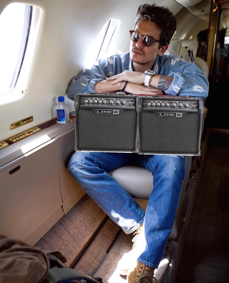 john mayer line 6 spider dumble private jet
