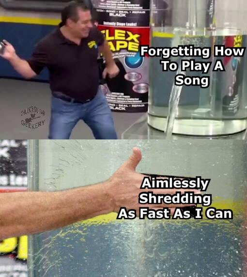 Flex tape meme guitar